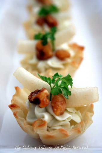 The Culinary Tribune › Blue Cheese and Pear in Phyllo Cups ...