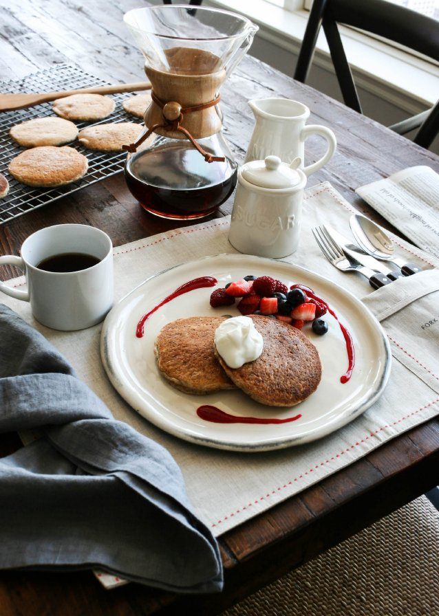 The Culinary Tribune › Almond Pancakes with Yogurt and ...
